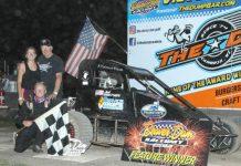 Jack Routson in victory lane at Beaver Dam Raceway.