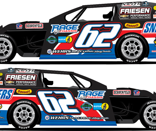 Hunter Marriott's modified will fly the colors of the Snickers brand.