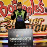 Tennessee's Hunter Wright scored an emotional Bojangles' Summer Shootout victory on Monday at Charlotte Motor Speedway. (CMS/John Davison photo)