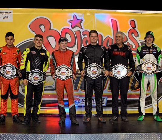 Tuesday's Bojangles' Summer Shootout champions included Lucas Vera, Garin Mash, Sam Butler, Carson Ferguson, Mark Green and Jason Alder. (CMS/John Davison photo)