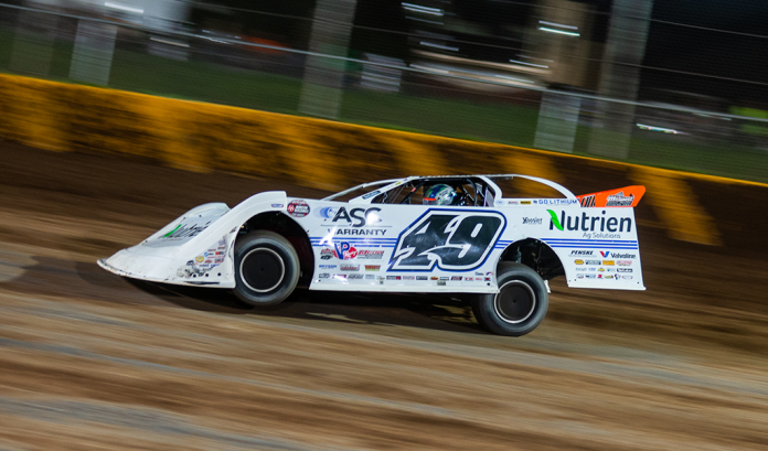 Jonathan Davenport at Cedar Lake Speedway. (Jacy Norgaard photo)
