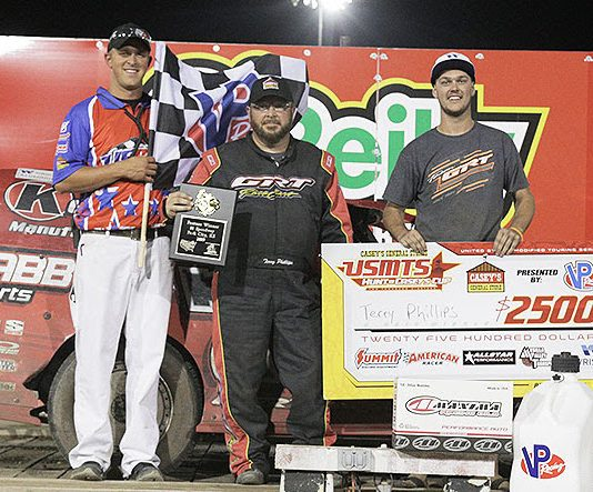 Terry Phillips in victory lane. (USMTS photo)