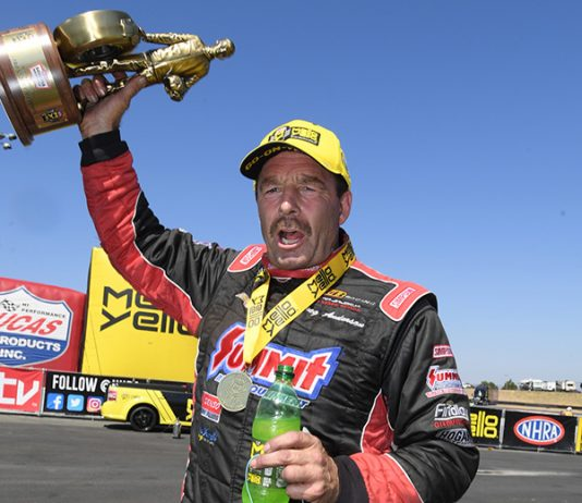 Greg Anderson is looking to become the first driver to ever sweep the NHRA's Western Swing twice. (NHRA Photo)
