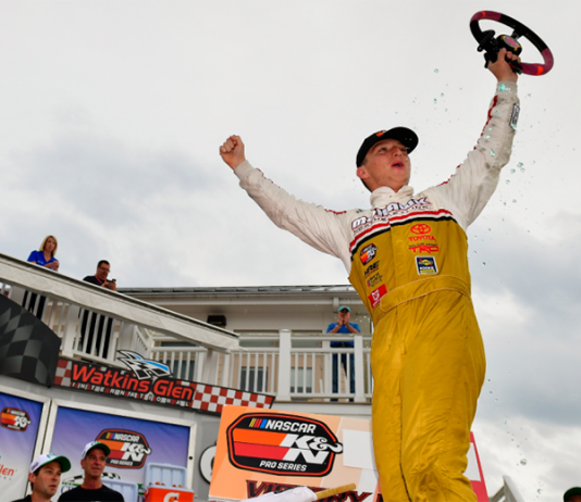 Max McLaughlin earned his first NASCAR K&N Pro Series East victory on Friday at Watkins Glen Int'l. (NASCAR Photo)