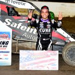 Rico Abreu won Friday's Lucas Oil POWRi National Midget League feature at Federated Auto Parts Raceway at I-55. (Don Figler Photo)