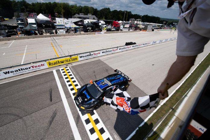 Sandy Mitchell and Andrea Amici were the winners in Sunday's Lamborghini Super Trofeo North America event at Road America. (IMSA Photo)