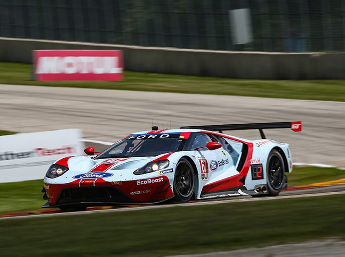 Ryan Briscoe and Richard Westbrook raced to victory in the GT Le Mans class Sunday at Road America. (IMSA Photo)