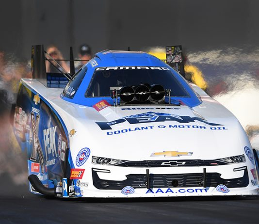 John Force earned his 150th NHRA Funny Car victory on Sunday. (NHRA Photo)