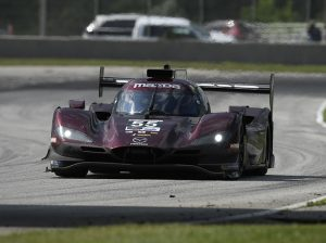 Jonathan Bomarito and Harry Tincknell drove the No. 55 Mazda to victory Sunday at Road America. (IMSA Photo)