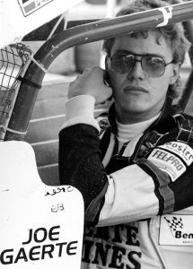 Joe Gaerte sits in his race car during his driving days.