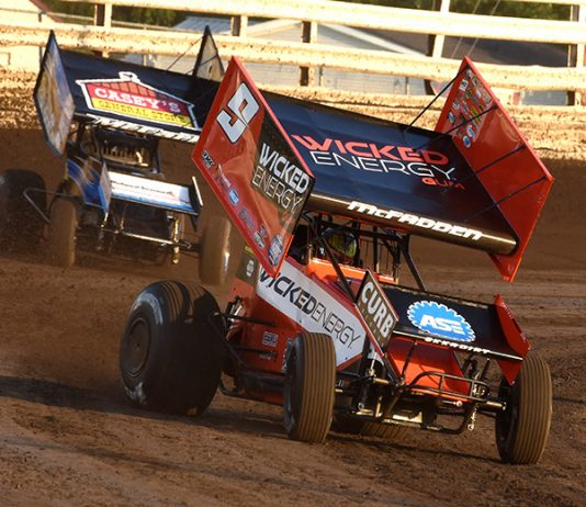 James McFadden remains the leader of the Mr. Sprint Car standings. (Paul Arch Photo)