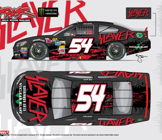 Musical act Slayer will sponsor Rick Ware Racing and J.J. Yeley at Bristol Motor Speedway.