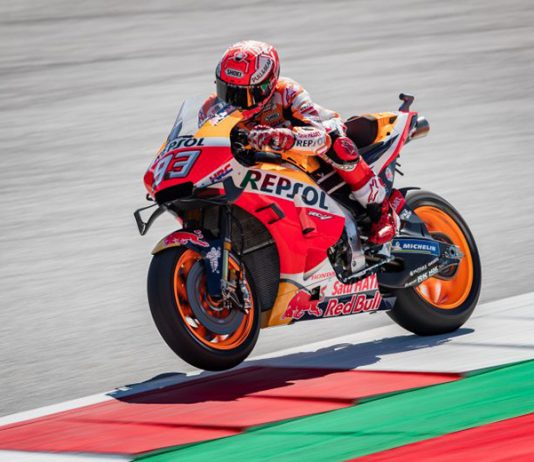 Marc Marquez was fastest on day one at the Red Bull Ring.
