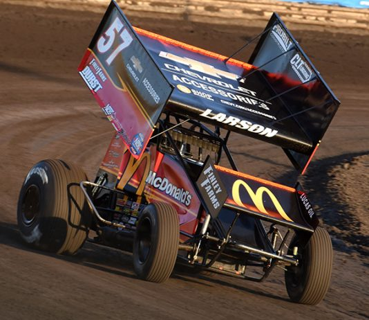 Kyle Larson has chosen to sit out the remainder of the Knoxville Nationals. (Paul Arch Photo)