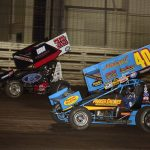 Mason Daniel (33) and Clint Garner (40) will both be in the Hard Knox program on Friday at Knoxville Raceway. (Mark Funderburk Photo)