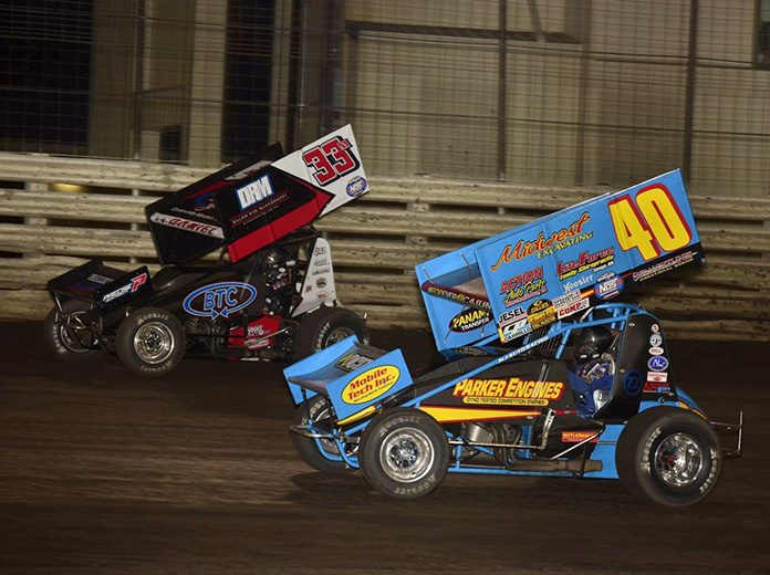 Mason Daniel (33) and Clint Garner (40) will both be in the Hard Knox program on Friday at Knoxville Raceway. (Mark Funderburk Photo)