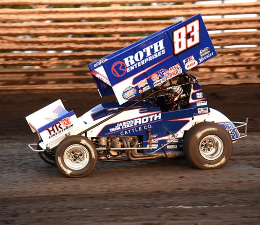 Daryn Pittman will start 10th in in Saturday's Knoxville Nationals feature. (Paul Arch Photo)