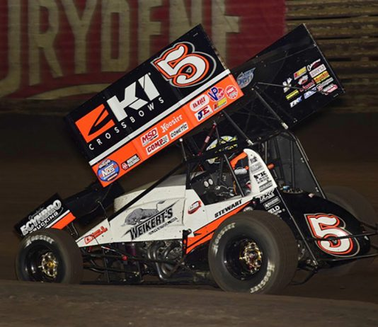 Shane Stewart will start 23rd in Saturday's Knoxville Nationals feature. (Mark Funderburk Photo)