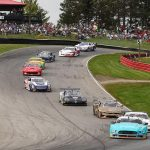 Ernie Francis Jr. leads the Trans-Am Series field Saturday at the Mid-Ohio Sports Car Course.