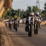 Jared Mees (1) raced to victory at the Sacramento Mile on Saturday. (Scott Hunter/AFT Photo)