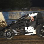 Chris Windom Sunday night at the Terre Haute (Ind.) Action Track. (David Nearpass photo)