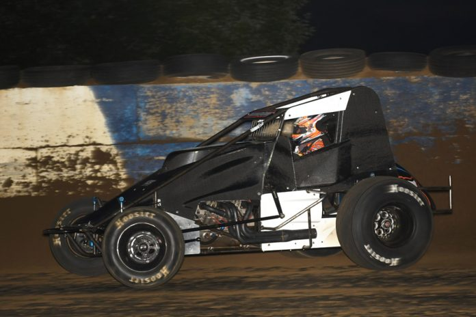 Chris Windom Sunday night at the Terre Haute (Ind.) Action Track. (David Nearpass photo)