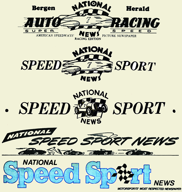 Some of the many logos of National Speed Sport News through the years.