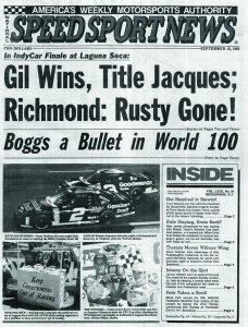 The Sept. 13, 1995 issue of National Speed Sport news.