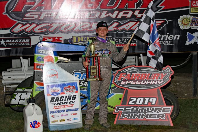 Zeb Wise in victory lane. (Jim DenHamer photo)