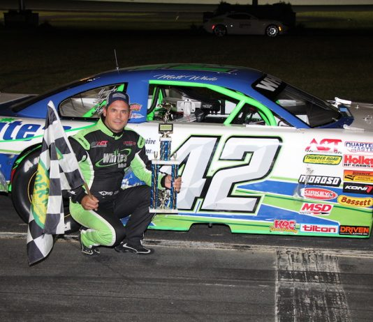 Matt White in victory lane. (Alan Ward photo)