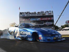 Matt Hagan paced Funny Car qualifying Friday at Brainerd Int'l Raceway. (NHRA Photo)