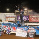Brandon Sheppard in victory lane at Williams Grove Speedway. (Gary Shrey photo)