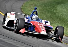 Tony Kanaan was fastest in NTT IndyCar Series practice Saturday at Pocono Raceway. (Al Steinberg Photo)