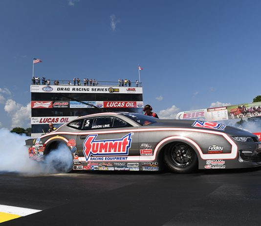 Jason Line raced to the No. 1 position in Pro Stock at Brainerd Int'l Raceway. (NHRA Photo)