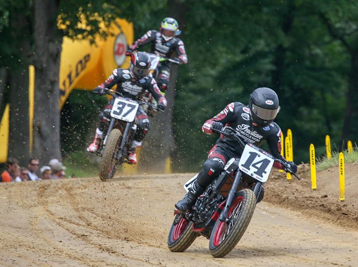 Briar Bauman (14) on his way to victory in the Peoria TT. (Scott Hunter Photo)
