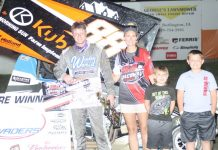 Dustin Selvage in victory lane.