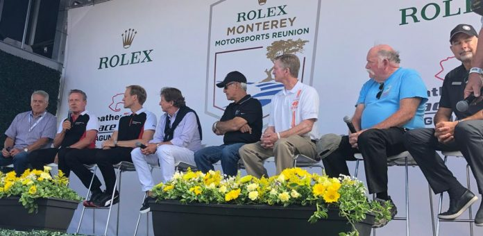 Fans got to enjoy a discussion among several IMSA legends during the Rolex Monterey Motorsports Reunion. (IMSA Photo)