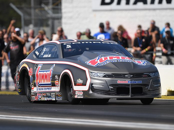 Jason Line earned his first Pro Stock win of the year Sunday at Brainerd Int'l Raceway. (NHRA Photo)
