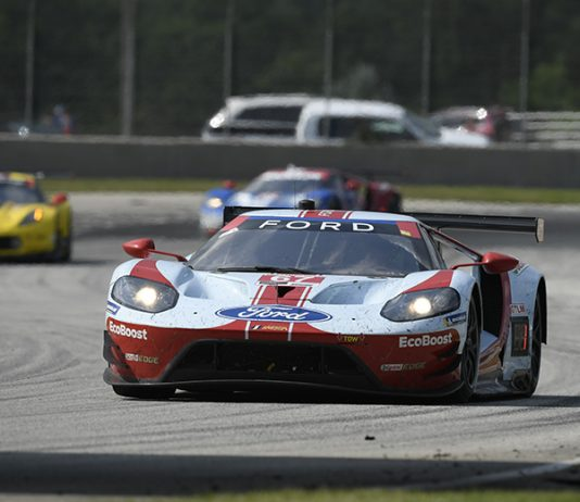 Ryan Briscoe and Richard Westbrook have won the last two GT Le Mans events, helping them close the gap on the Pfaff Motorsports Porsche team. (IMSA Photo)