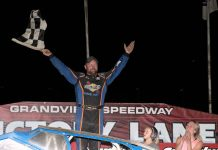 Mike Gular in victory lane at Grandview Speedway. (Dan Demarco photo)