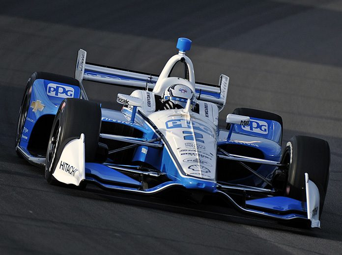 Josef Newgarden earned the pole for Saturday's NTT IndyCar Series race at World Wide Technology Raceway. (Shawn Crose Photo)