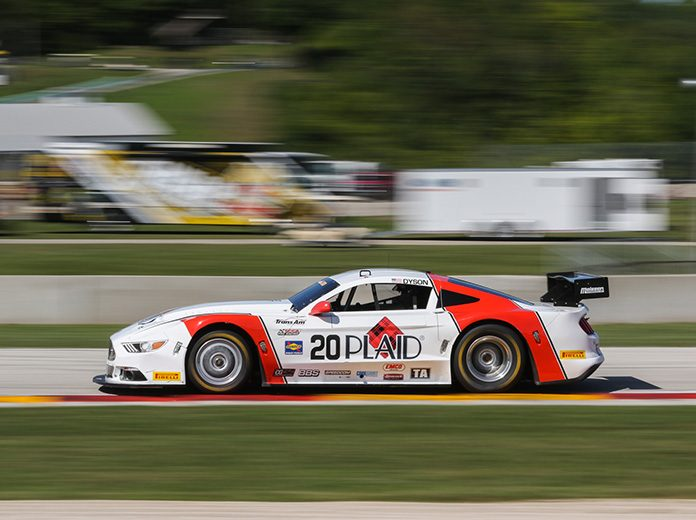 Chris Dyson raced to the pole in Trans-Am Series competition Friday at Road America.