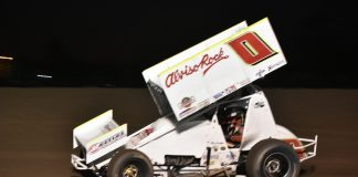 Bud Kaeding was a winner Friday at the Stockton Dirt Track. (Joe Shivak photo)