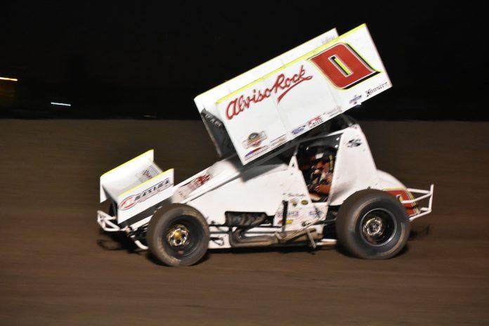 Bud Kaeding was a winner Friday at the Stockton Dirt Track. (Joe Shivak photo)