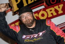 Terry Phillips won Friday's USMTS feature at Rapid Speedway.