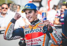 Marc Marquez earned the MotoGP pole at the Silverstone Circuit on Saturday. (Honda Photo)