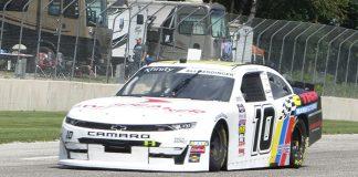 A.J. Allmendinger is on the pole for Saturday's NASCAR Xfinity Series race at Road America. (Nicholas Dettmann Photo)
