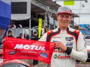 Zacharie Robichon won the GT Daytona class pole at Virginia Int'l Raceway. (Sarah Weeks Photo)