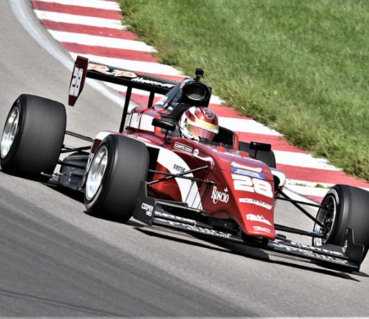 Kyle Kirkwood came from the rear of the field to win Saturday's Indy Pro 2000 event at World Wide Technology Raceway. (Al Steinberg Photo)