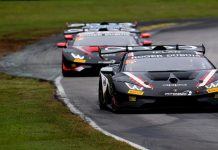 Cedric Sbirrazzuoli and Paolo Ruberti drove the No. 27 entry to victory Saturday at Virginia Int'l Raceway.